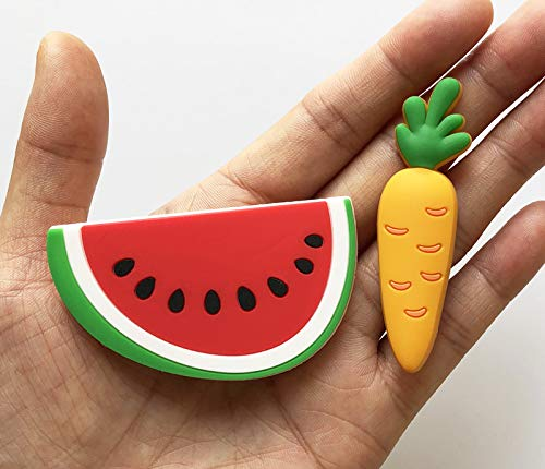 Toddler Early Learning Toys for Kids 3+ 1pcs Cute Fruits Vegetables Stereo Funny Magnets for Refrigerator Random Pattern Flormoon Refrigerator Magnets