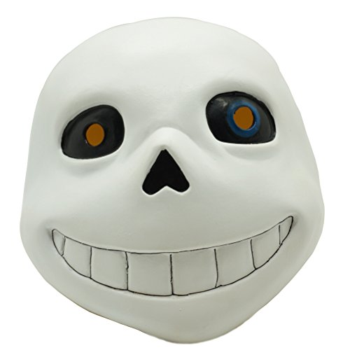 Sans Undertale Costume (Undertale Sans Latex Mask Cosplay Cartoon Skull Mask Halloween Party Prop)