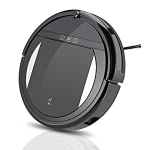 Preup Robot Vacuum Cleaner with Mop, 1200PA Powerful Suction Super Quiet Ultra Slim Body, Self-Charging & Sensor Navigation for Pet Hair, Fur, Dirt, Stains, Thin Carpet, Hardwood and Tile Floor