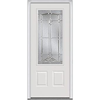 National Door Company Z001367L Steel Prehung Left Hand Inswing Entry Door Br
