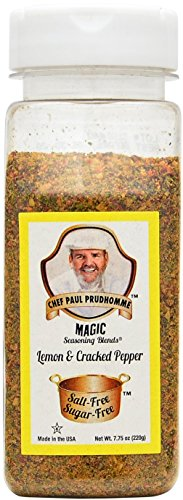 Chef Paul Prudhomme's Magic Seasoning Blends No Salt & No Sugar, Lemon and Cracked Pepper, ()