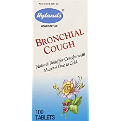 Hyland's Bronchial Cough Tablets, Natural Relief of Cough with Mucous Due to Cold, 100 Count