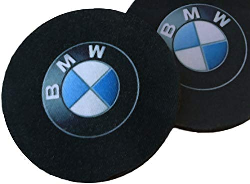 Pair of Car Coasters for BMW / Highly Absorbent for Any BMW Cup Holders (2pcs) / Available in 2 Sizes