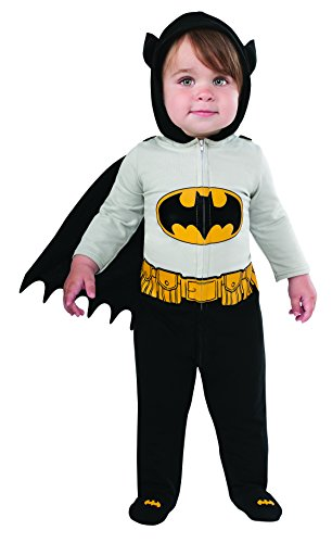 Infant Batman And Robin Costumes (Rubie's Costume Baby's DC Comics Superhero Style Baby Batman Costume, Multi, 6-12 Months)