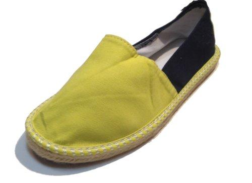 Espadrilles Deux Tons - Alpargatas Espagnoles - Slip On - Chaussures De Pont - Toile - Couleurs Assorties Jaune
