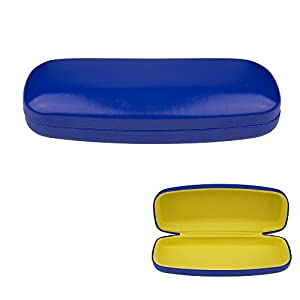 Glasses Case, Hard Shell Protects & Stores Sunglasses, Reading Eyeglasses and Most Eyewear, Suitable for Men, Women & Kids, -Blue- By OptiPlix