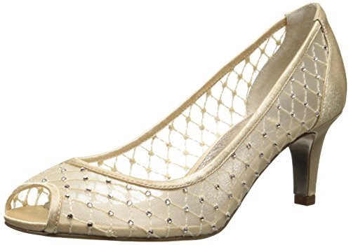 Adrianna Papell Women's Jamie Dress Pump, Nude Saba Mesh, 8 M US