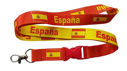 Amazon.com: Bandera de España/Espana Lanyard Reversible con ...
