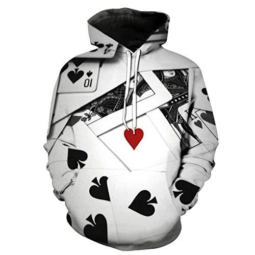 Unisex 3D Print Game Poker Cards Pattern Slim