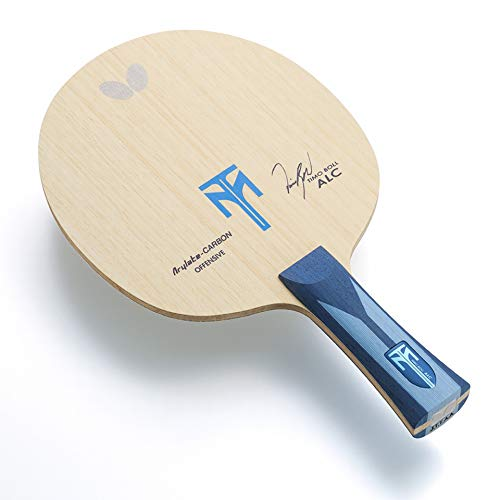 Butterfly Timo Boll ALC Blade | Arylate-Carbon Table Tennis Blade | Professional Table Tennis Blade | 5 Wood + 2 Arylate-Carbon Plies | an, FL, or ST Handle | Made in Japan