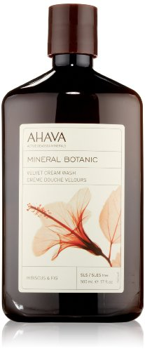 Body Lotion Mineral Ahava (AHAVA Dead Sea Mineral Botanic Cream Wash - Hibiscus & Fig, 17 oz/500ml)