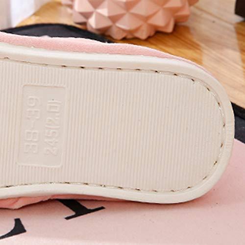 Garder Maternité Coréenne TD Bleu d'hiver Maison 36 Chaud Fond Taille Animé Red 35 Automne Antidérapante Chaussures Belle Couleur Dessin Épais Version Et Intérieur Pantoufles Femelle Coton awqH6xap