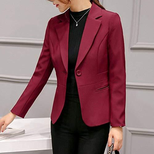 Suit Lunga Di Fit Giubotto Bavero Giacca Moda Grazioso Monocromo Leisure Stlie Rot Da Offlce Outwear Donna Button Tailleur Autunno Manica Slim 0a5qwzxp