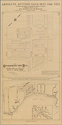 Historic 1912 Map   Map of the Borough of Richmond.   Maps of New York City and State   Staten Island