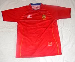 WORLD CUP CHAMPIONS MENS LA FURIA ROJA SPAIN SOCCER JERSEY SIZE LARGE