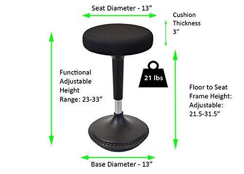 Tabouret Inclinable Reglable En Hauteur Pour Une Position Assise Equilibree Et Active Pour Le Bureau Tabouret Haut Pivotant Ergonomique Pour