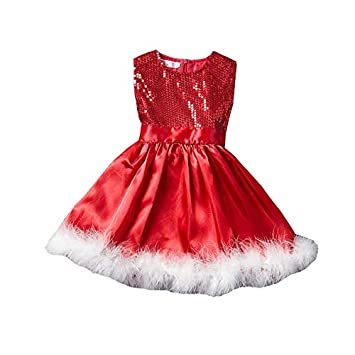 625242c493 Buy Fancy Steps Christmas Red Dress (Age 2-4 Yrs) Online at Low Prices in  India - Amazon.in