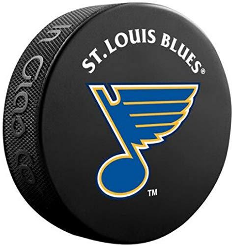 Inglasco Sher-Wood Basic Logo Souvenir Hockey Puck - Blues ()