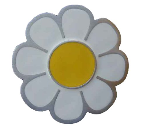 Daisy Flower Power Colored Novelty Belt Buckle - Flower Power Fashion Belt