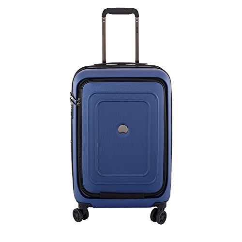 Shadow Spinners Pocket - DELSEY Paris Luggage Cruise Lite Hardside Carry On Expandable Spinner Suitcase with Front Pocket & Lock, Blue