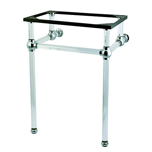 Kingston Brass VAH282033C Fauceture Templeton Console Sink Holder with Acrylic Pedestal, 33-3/16