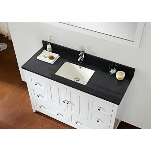 "new Jade Bath JB-17664 47.5"" W x 18"" D Plywood-Veneer Vanity Set, White"