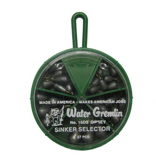 - Water Gremlin Dipsey Swivel Sinker Selector, 7ea/10, 6ea/9, 5ea/8, 5ea/7, 4ea/6