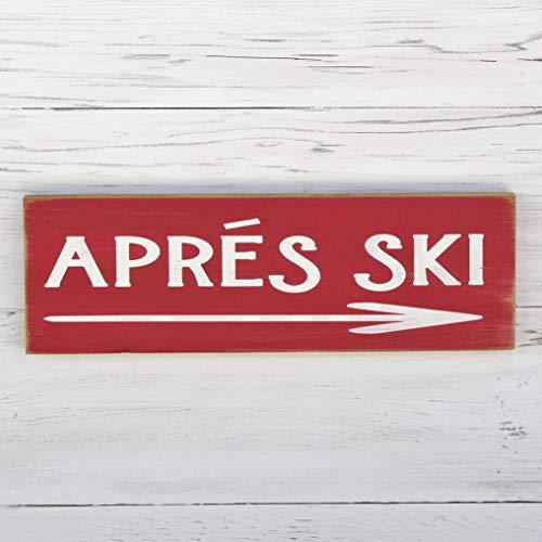 (Apres Ski Rustic Cabin Winter Home Decor Wood Sign)
