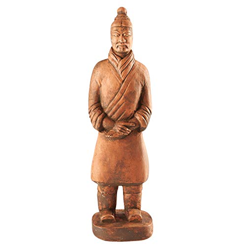 House Parts Replica Terra Cotta Warrior Foot Soldier Statue - Indoor/Outdoor Garden Accent and Lawn Ornament - Made in USA