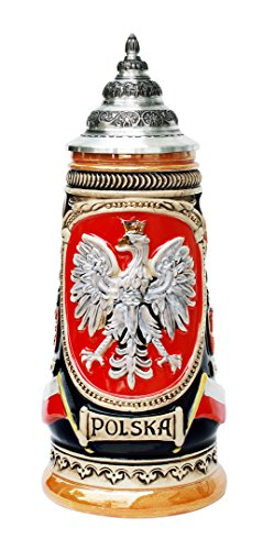 Polska Poland German Beer Stein 0.5 Liter by King Werk by GermanSteins
