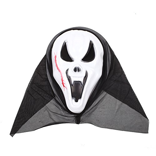 monque Halloween Horror Scary Costume Bloody Face Mask Full Head Fancy Dress Make Up -