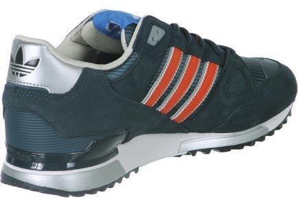 adidas ZX 750 - Zapatillas para hombre Azul marino / Naranja / Plata