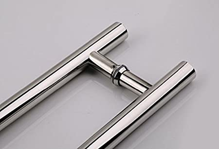 Handle Diameter: 1.26 inch // 32 mm 60 inch 1524 mm Door Push Pull Handle // Back to Back // Polished Chrome Mirror Finish // 304 Grade Stainless Steel // Ladder Style