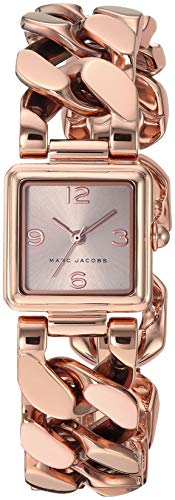 Marc Jacobs Women's Vic Analog-Quartz Stainless-Steel-Plated Strap, Rose Gold, 8 Casual Watch (Model: MJ3603)