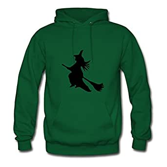 Sarahdiaz Green Custom Different Vogue ۞»♥a Broom Witch Vector Design♥«۞ Hoodies/women X-large