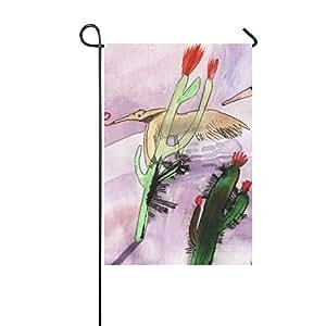 ADEDIY Fashion Custom bandera de Jardín Ant Eater y Cactus bandera de Jardín 12x 18en al aire libre Decor celebración de vacaciones decoración
