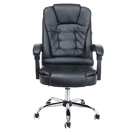 - Coohole Home Office Chair Desk Massage Function Ergonomic Adjustable Seat Height Swivel Rolling Comfortable Office Leather Network Gaming Chair Executive Lumbar Support -Ship from USA