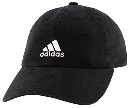 adidas Boys / Youth Ultimate Relaxed Adjustable Cap, Black/White, One Size