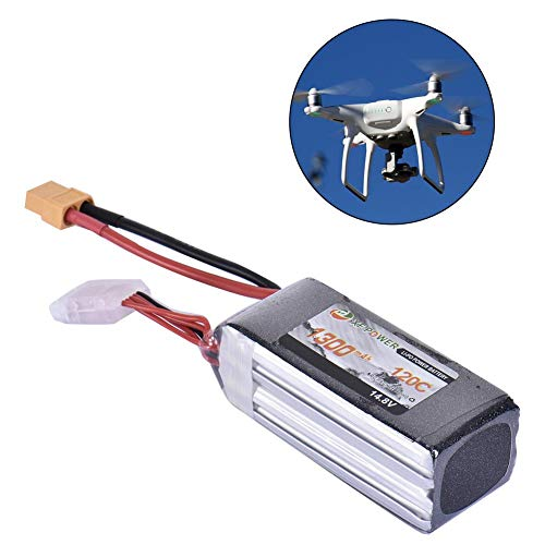 Shantan XT60 Rechargeable Lithium Battery for Remote Control Toys,XF 1300mAh 14.8V Racing Lipo Battery