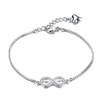 Keybella - joya pulsera para hombre y mujer, infinito, acero ...