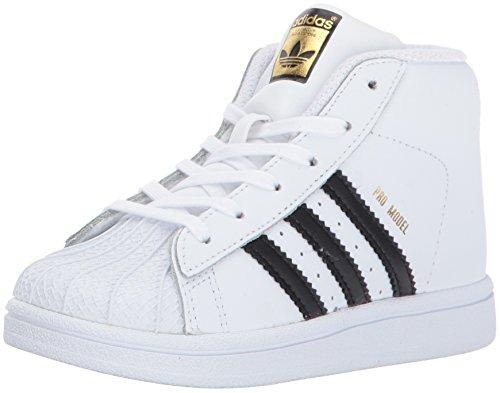 adidas Baby Pro Model Inf Sneaker,White, Core Black, Gold Met., 10K M US Toddler