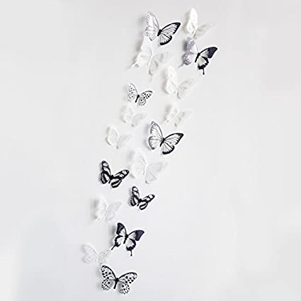18pcs//lot 3d crystal Butterfly Wall Sticker Art Decal Home decor for Mural Stick