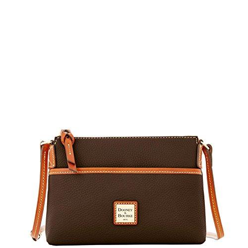 Shoulder amp; Bag Bourke Chocolate Grain Pouchette Dooney Pebble Ginger dPxYnqwTTa