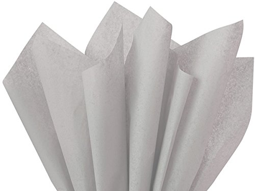 Grey Gray Bulk Tissue Paper 15 Inches x 20 Inches - 100 Sheets BY Premium Tssue Paper A1 bakery supplies