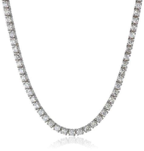 White Diamond Tennis Gold Necklace - IGI Certified 14K White Gold Diamond Tennis Necklace (6.00 cttw, H-I Color, I1 Clarity), 17