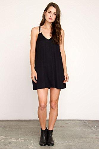 RVCA Juniors Sims Strappy Dress, Black, - Sunglasses Rvca