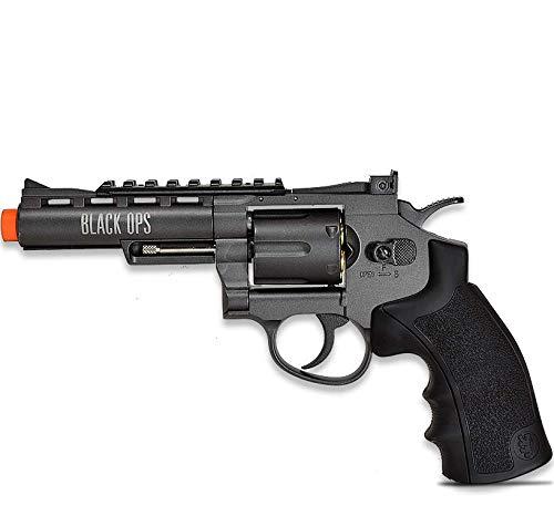 black ops exterminator full metal air revolver, 4 gun metal bb(Airsoft Gun)