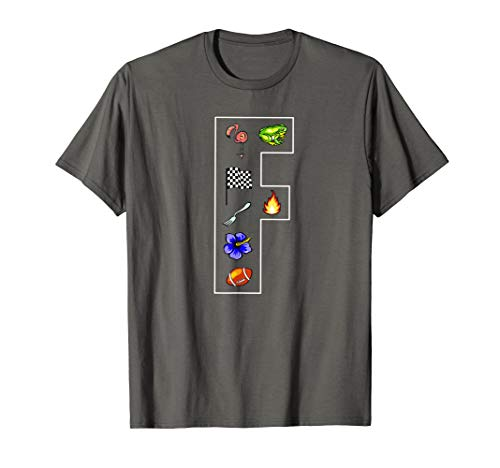 Alphabet Letter F Phonics Objects That Start With F Shirt (Colors That Start With The Letter F)