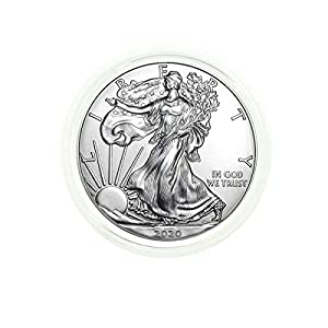 2020 – American Silver Eagle .999 Fine Silver in Direct Fit Air Tite with our Certificate of Authenticity Dollar Uncirculated Us Mint