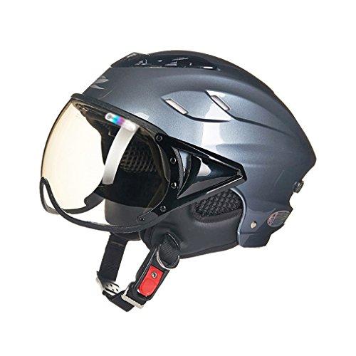 Casco de seguridad para moto Cascos de media altura para hombre y mujer Casco de protección solar para el verano Casco de...
